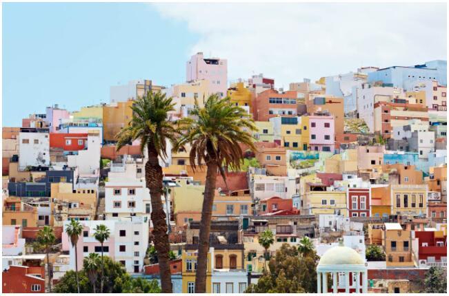 Colorful houses in Las Palmas