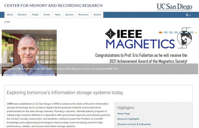 Center for Memory and Recording Research (CMRR) at UC San Diego