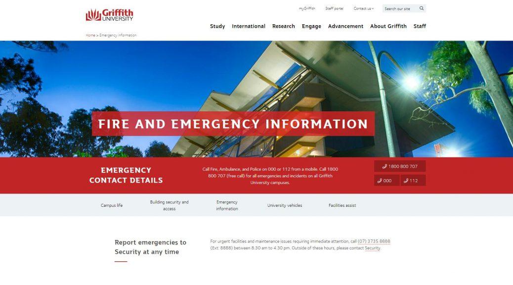 Emergency information - Griffith University