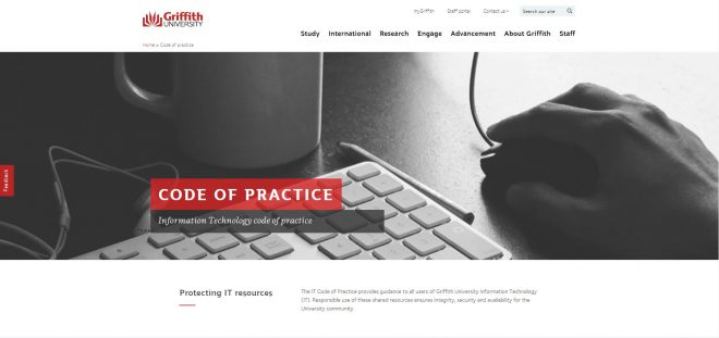 Information Technology Code of Practice - Griffith University