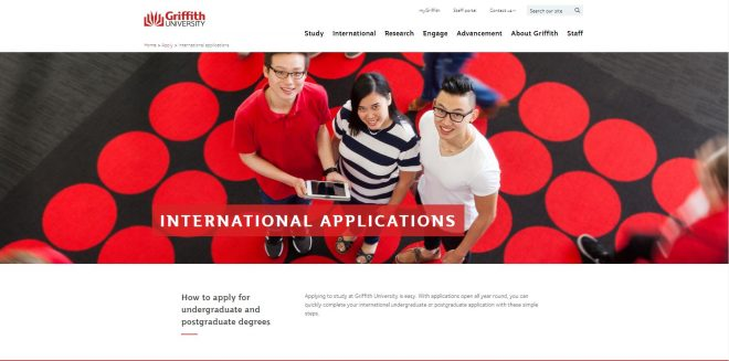 International applications - Griffith University