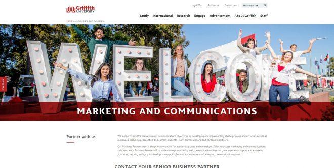 Marketing and Communications - Griffith University