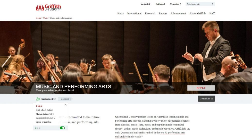 Music and performing arts - Griffith University