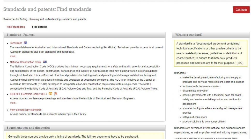 The new database for Australian and International Standards and Codes