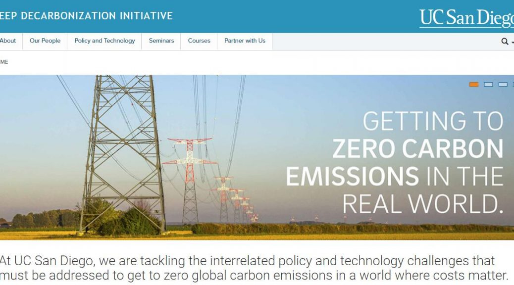 UCSD Deep Decarbonization Initiative