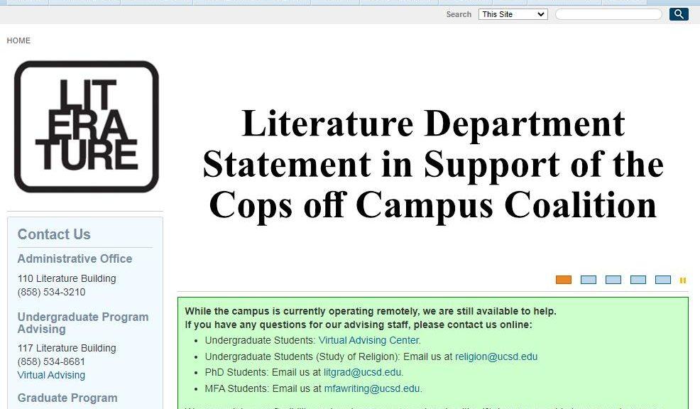 UCSD Department of Literature