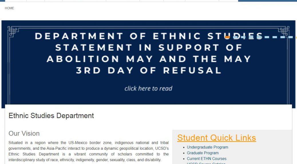 UCSD Ethnic Studies Department