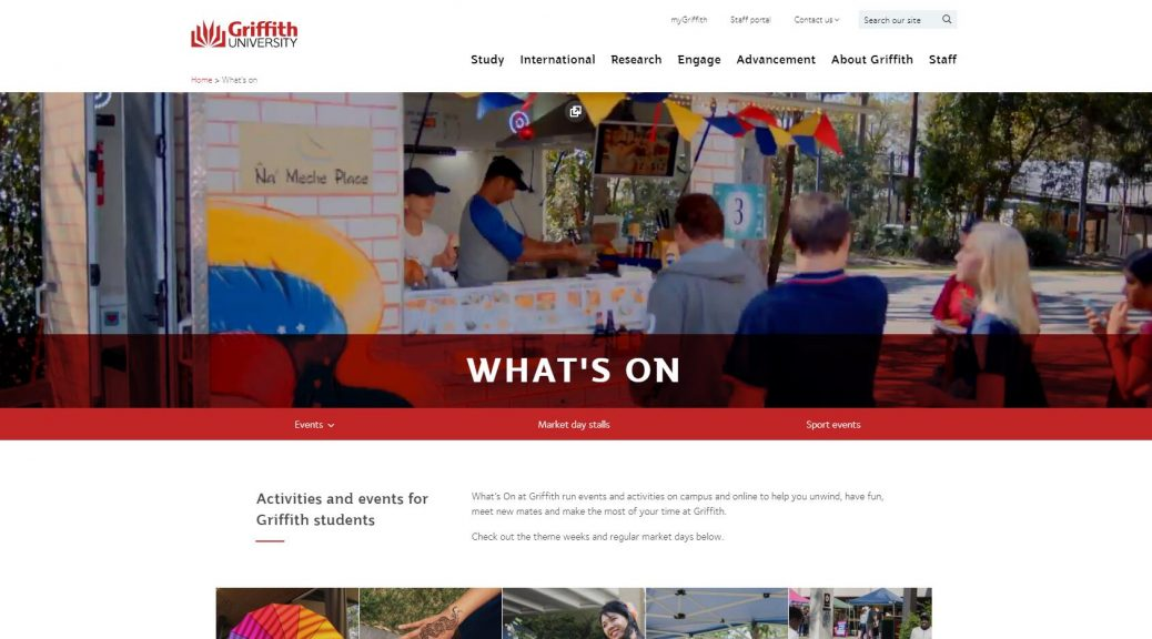 What's on - Griffith University